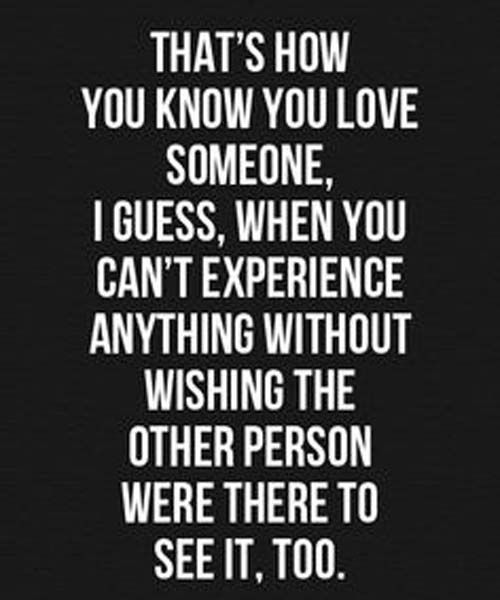Sometimes you're lucky enough that the person you feel that toward wants the same thing. Other times... you're left alone feeling that way about someone who probably is thinking that way about anyone but you. Those times... no matter what you do, you're just left feeling empty.