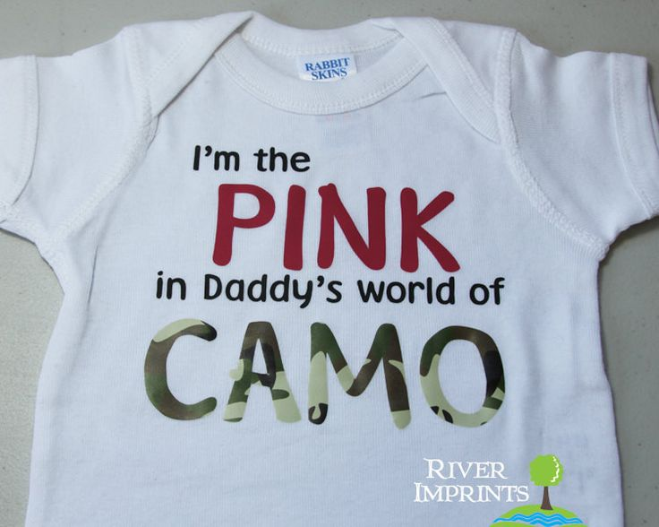 Baby PINK and CAMO, baby girl one piece body suit