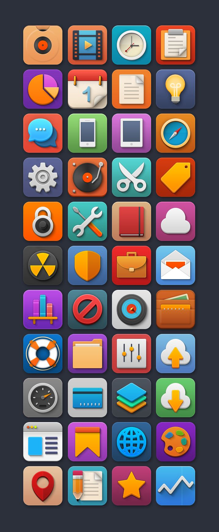"Free Icon Set ""Softies"""