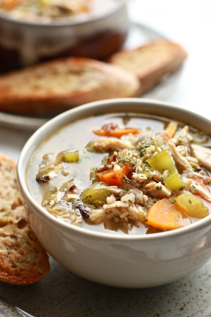 Easy Chicken Soup With Wild Rice Recipe Rice Nutrition Wild
