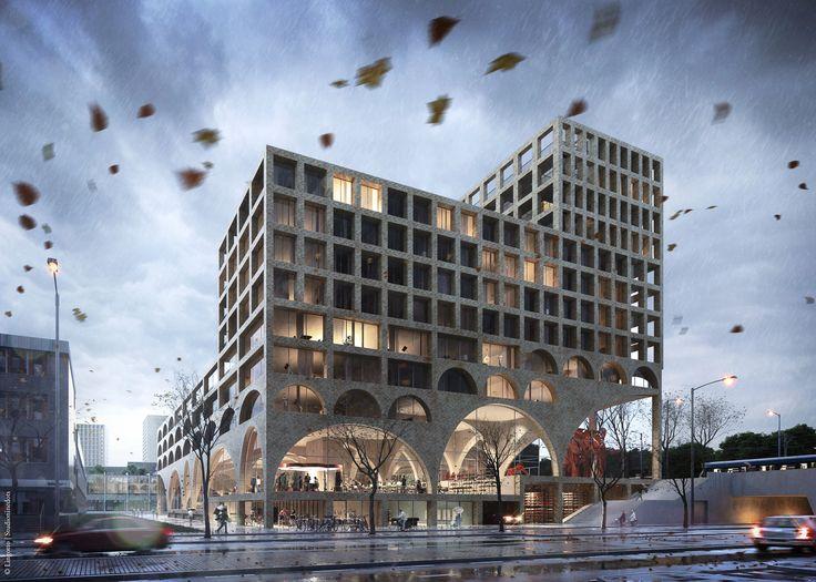 "Studioninedots Will Create a ""Super Space"" in Amsterdam,Courtesy of Studioninedots | A2 Studio"