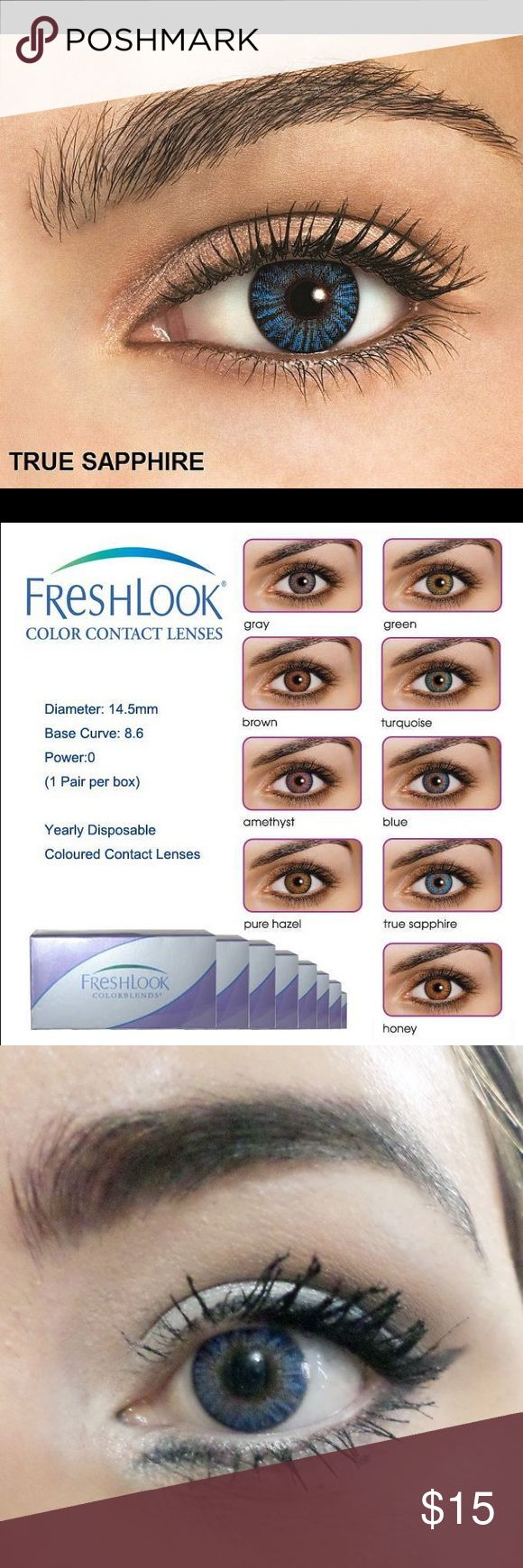 TRUE SAPPHIRE CONTACTS W FREE CASE Freshlook colorblends contacts w free case Accessories Glasses