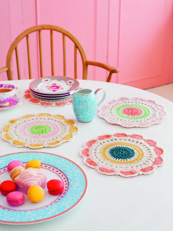 crochet ; lovely colourful doilies
