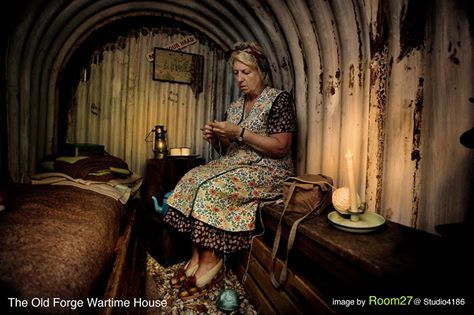 WW11 Anderson shelter at the Old Forge Wartime House Sittingbourne Kent