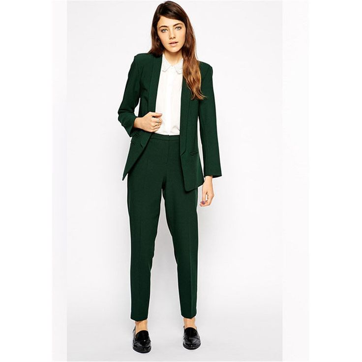 Fashionable ladies suit Turquoise Ladies Formal Pant Suits for Weddings Womens Business Suits Blazer  #Affiliate