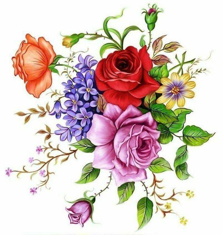 цветные цветочки для открыток некоторое время меня