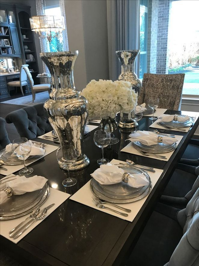 37 What Gold And Silver Dining Table Is And What It Is Not 17 Decoryourhomes Dining Room Table Decor Dining Table Decor Centerpiece Dinning Room Table Decor