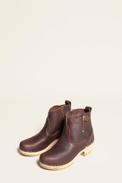 "No.6 5"" Buckle Boot on Mid Heel in Molasses"