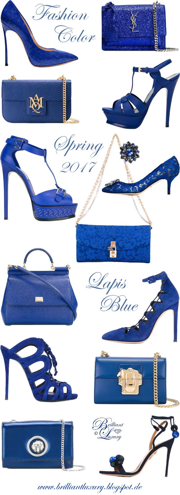 Brilliant Luxury by Emmy DE ♦ Fashion Color Spring 2017 ~ lapis blue