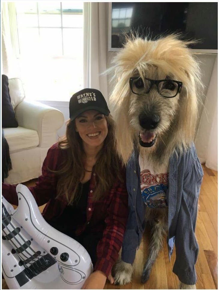 This cosplay is superb... But how big is that dog!? #WaynesWorld
