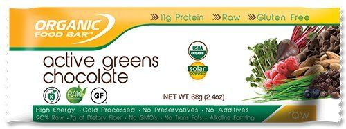 Organic Food Bar  Organic Food Bar Active Greens Chocolate 12 bar -- Click image for more details.