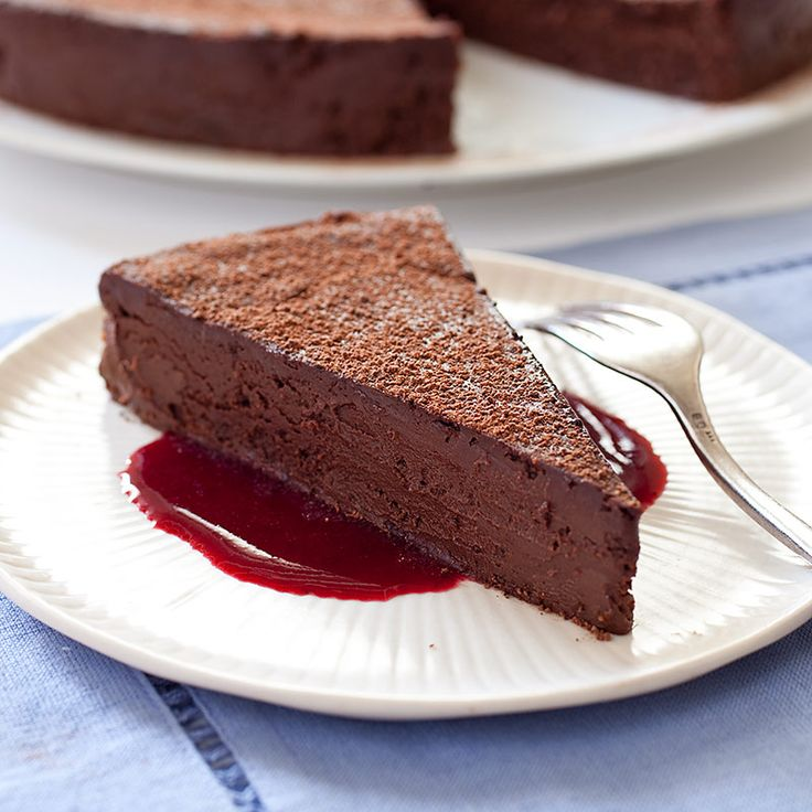 Just three ingredients—whipped whole eggs, a good-quality semisweet chocolate, and butter—will yield dense, rich texture and true chocolate flavor in our Chocolate Flourless Cake.