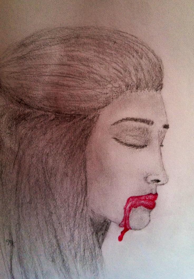 Half Face Drawing