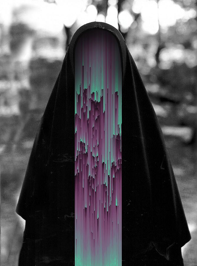 Creepy, but interesting>> Eerie, glitched photo manipulations by Giacomo Carmagnola