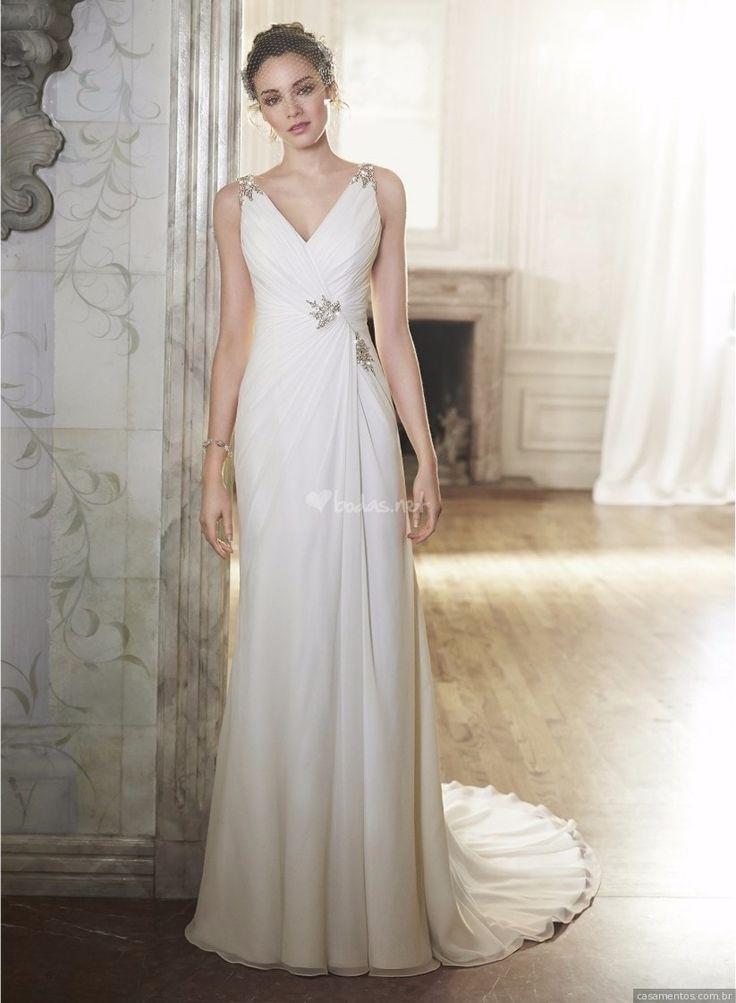"""A clichê expressão """"deusa grega"""" não poderia definir melhor as noivas nos modelos de vestidos que separamos. Confira e escolha qual o seu!"""