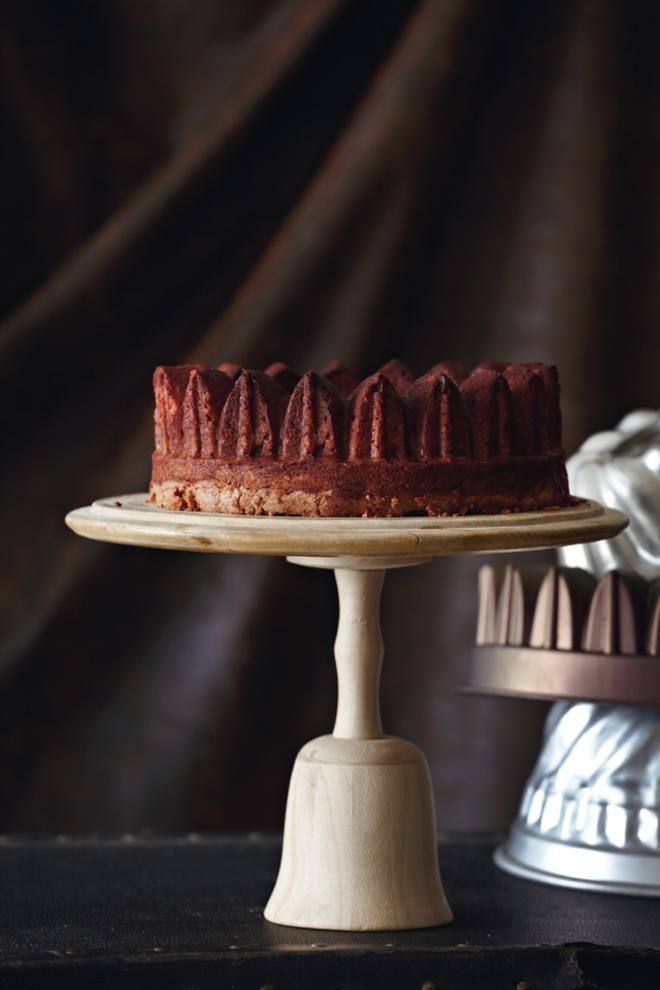 Κέικ σοκολάτας με αμύγδαλο και πορτοκάλι