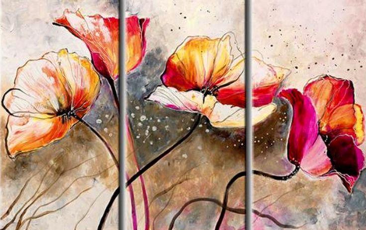Pintura Abstracta Moderna Cuadros Tripticos Wallpapers Pelautscom