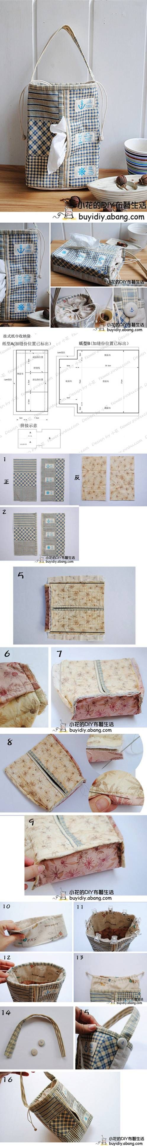 DIY Simple Towel Pouch