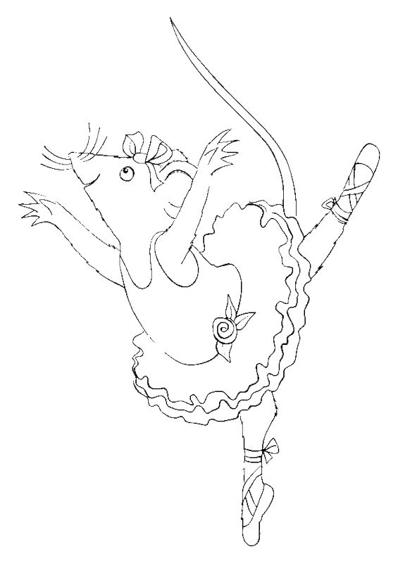 angelina ballerina coloring pages 18