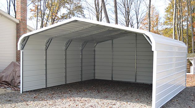 Enclosed Carport Kits : Steel carports pinterest