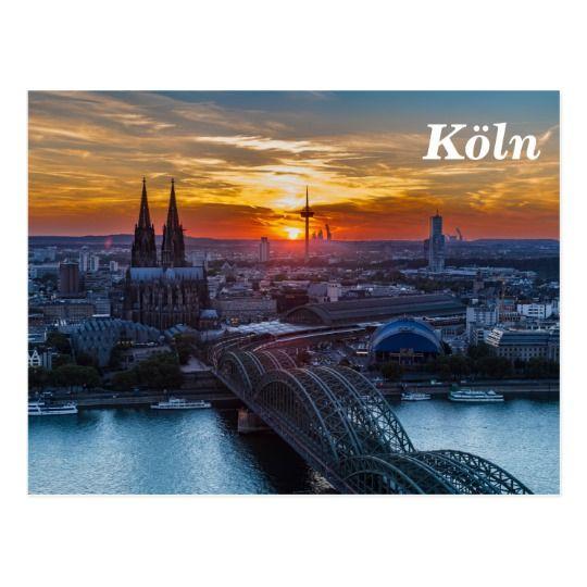 Koln Kathedrale Deutschland Sonnenuntergang Foto Postkarte Zazzle De Kurztrip Reisen Koln Erleben