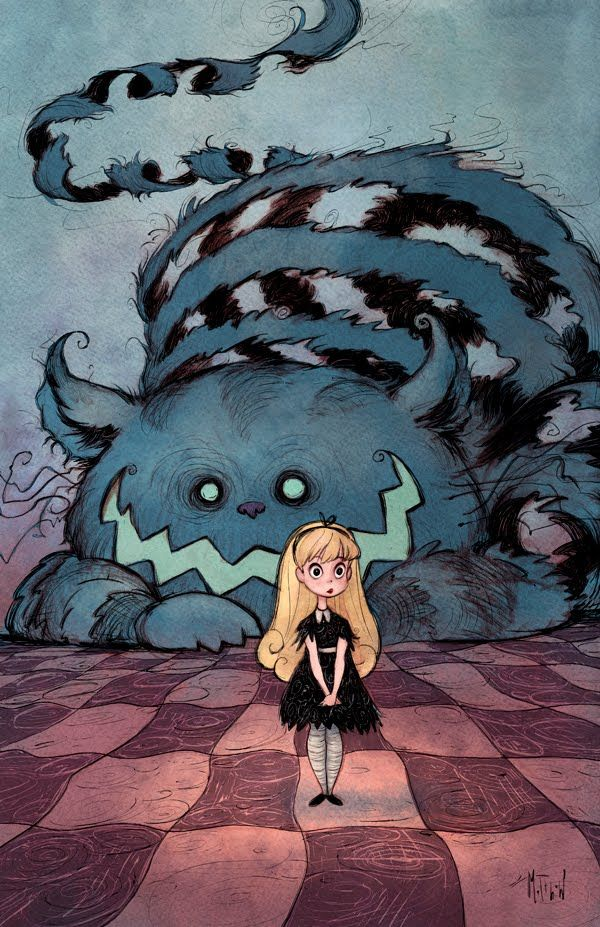 Alice and the Cheshire Cat in Wonderland by Matthew S. Armstrong