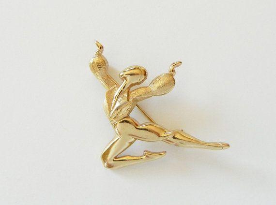 Marcel Boucher Male Ballet Dancer Brooch / by RockArtemisVintage, $145.00