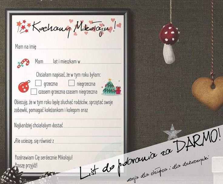 List do Mikołaja!!! Za darmo do pobrania ! Link do fb w bio !  #hohoho #santa #listdomikołaja  #rudamama #zadarmo #freebies http://ift.tt/2ghCD5z