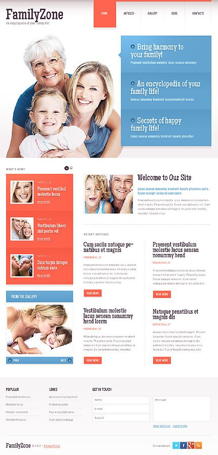 Family Zone Drupal Templates by Elza