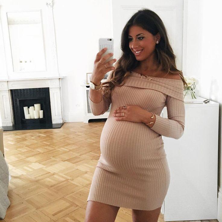Blue dress 9 months gestation