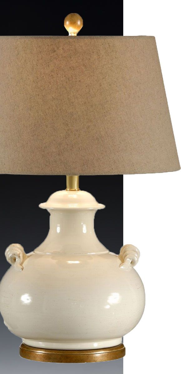 beautiful white ceramic lamp hand made in Italy; available at InvitingHome.com; Mediterranean lighting ideas