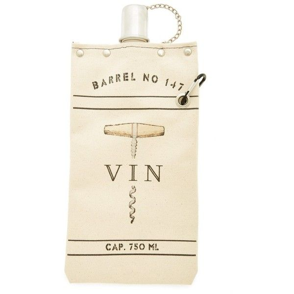 tote+able 'Vintage Canteen' Canvas Wine & Beverage Tote found on Polyvore