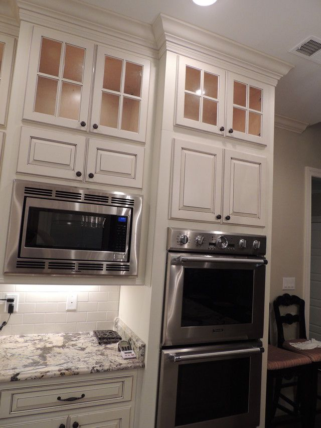 double wall oven and microwave - Kitchens Forum - GardenWeb - where to put the microwave