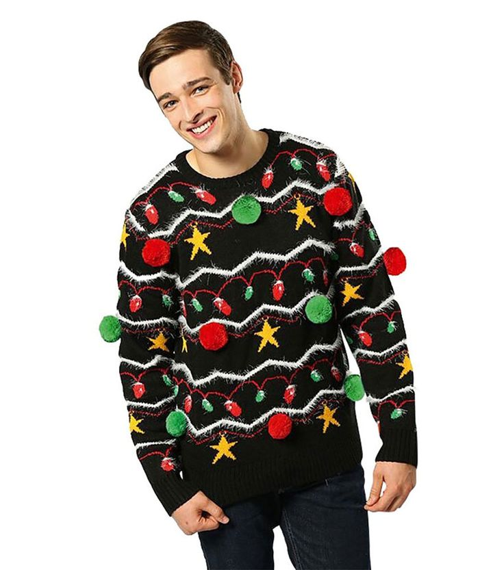 mens funny 3d christmas jumper