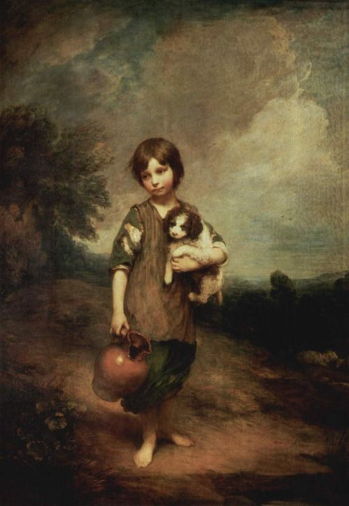THOMAS GAINSBOROUGH. Cottage Girl with Dog and Pitcher, 1785