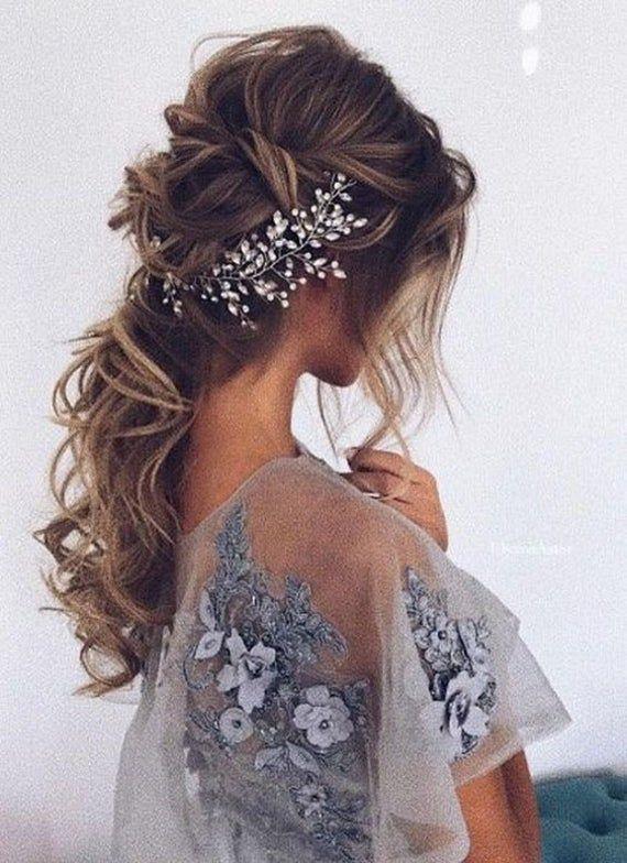 Bridal Hair vine Silver Wedding Hair vine Bridal hair accessories Wedding Hair Accessories Silver Br