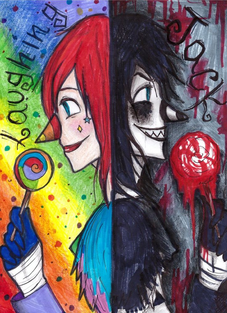 laughing jack, two faces by NENEBUBBLEELOVER on DeviantArt