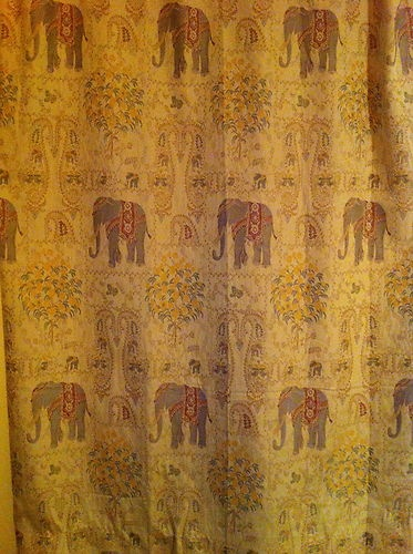 Use Pier 1 Elephant Tapestry Window Curtain Panels In Home