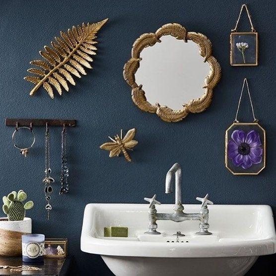 I n s p i r a t i o n ✨ till badrummet från @hmhome 🌿Snyggt att måla väggarna i en petrolnyans! 🌟Liknande nyans är Mystical Paris från @nordsjosverige 💙Ha en mysig kväll! #nordsjoljungby #nordsjöfärg #nordsjoidedesign #interiordesign #inredningsinspiration #colours