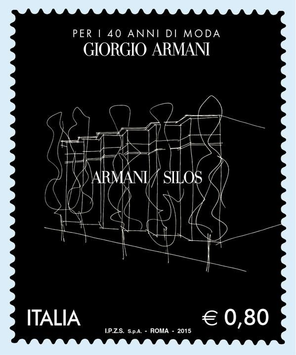 #Atribute from Milan: The Italian Post Office releases a dedicated stamp for the #ArmaniSilos and 40th anniversary.