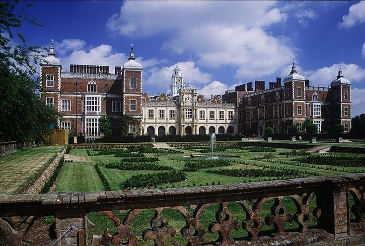 Hatfield House, the childhood residence of Elizabeth Tudor, after she was exiled from her father's court, following the disgrace and execution of her mother, Anne Boleyn. It is also the property where she received word that she was now Queen of England, after the death of her sister, Mary I.