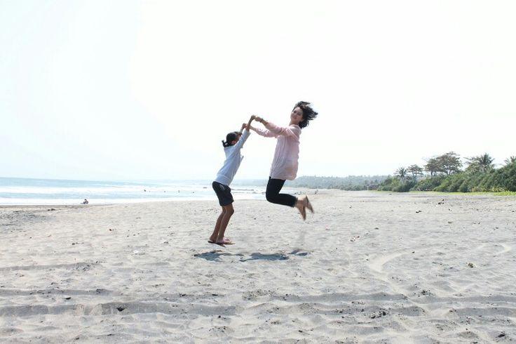 Masih alami. Manalusu beach. Cijayana bungbulang. Garut. West Java