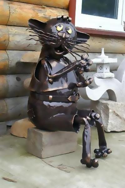 Памятник корабельному коту, Владивосток, Приморский край, Россия.