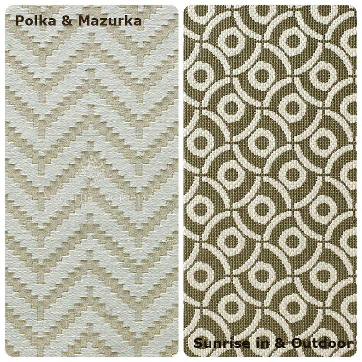 Еще один проверенный способ «приземлить» зеленый интерьер, придав ему спокойной основательности, это обивочные ткани. Чтобы не останавливаться на однотонных вариантах, предлагаем элегантную хлопковую ткань Polka & Mazurka и практичный жаккард Sunrise in & Outdoor от бренда Nobilis s.a. Этот жаккард можно успешно использовать для экстерьерного декорирования палуб, террас и веранд.