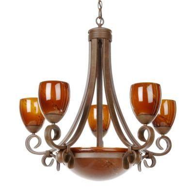 hampton bay rhodes nutmeg chandelier at the home depot tablet