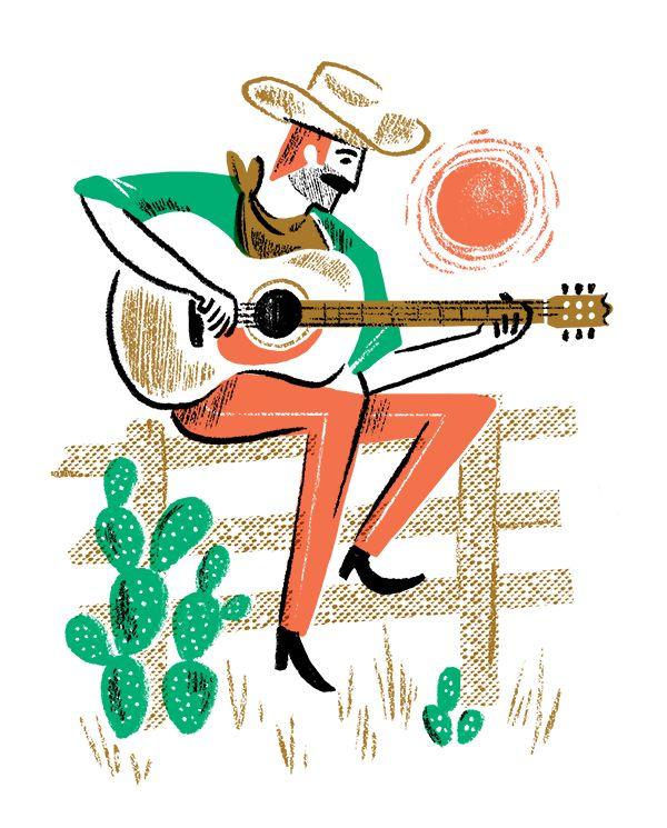 Cowboy With Guitar. > Brad Woodard.