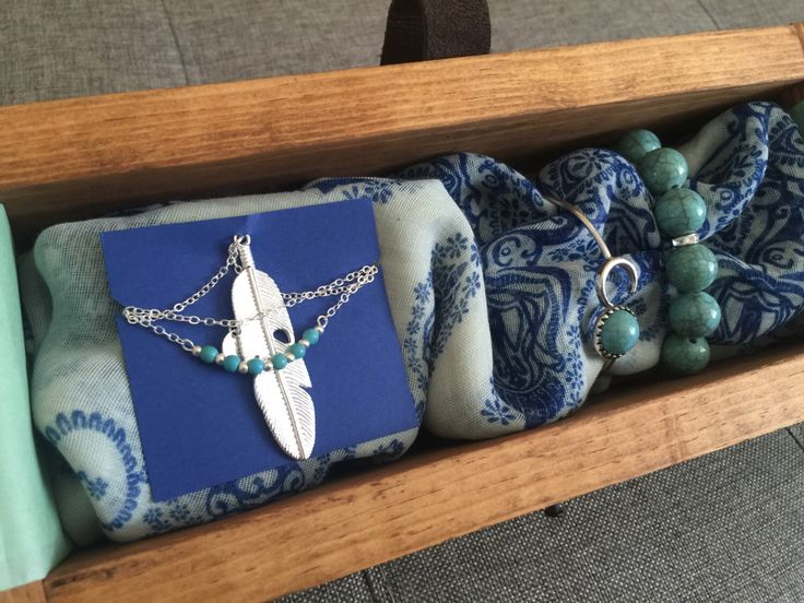 A personal favorite from my Etsy shop https://www.etsy.com/listing/460474358/gift-set-for-her-includes-turquoise