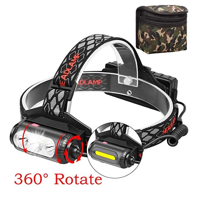 Biking New Hands-Free LED Light For Hunting Camping Ear Headlamp
