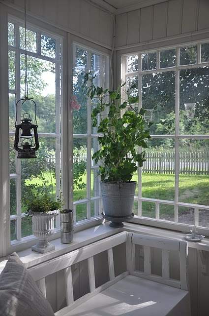Pretty Swedish White Back Gassed Porch Hanging