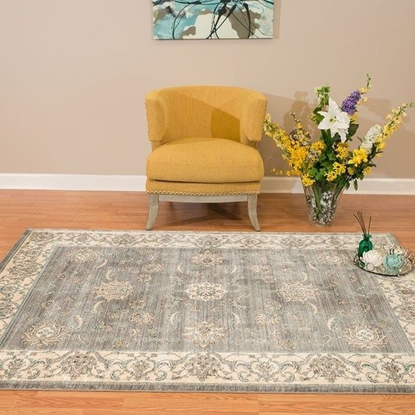 Westfield Home Royale Milagros Blue/ Grey Oversize Area Rug (12'6 x 15'0), Size 12' x 15'
